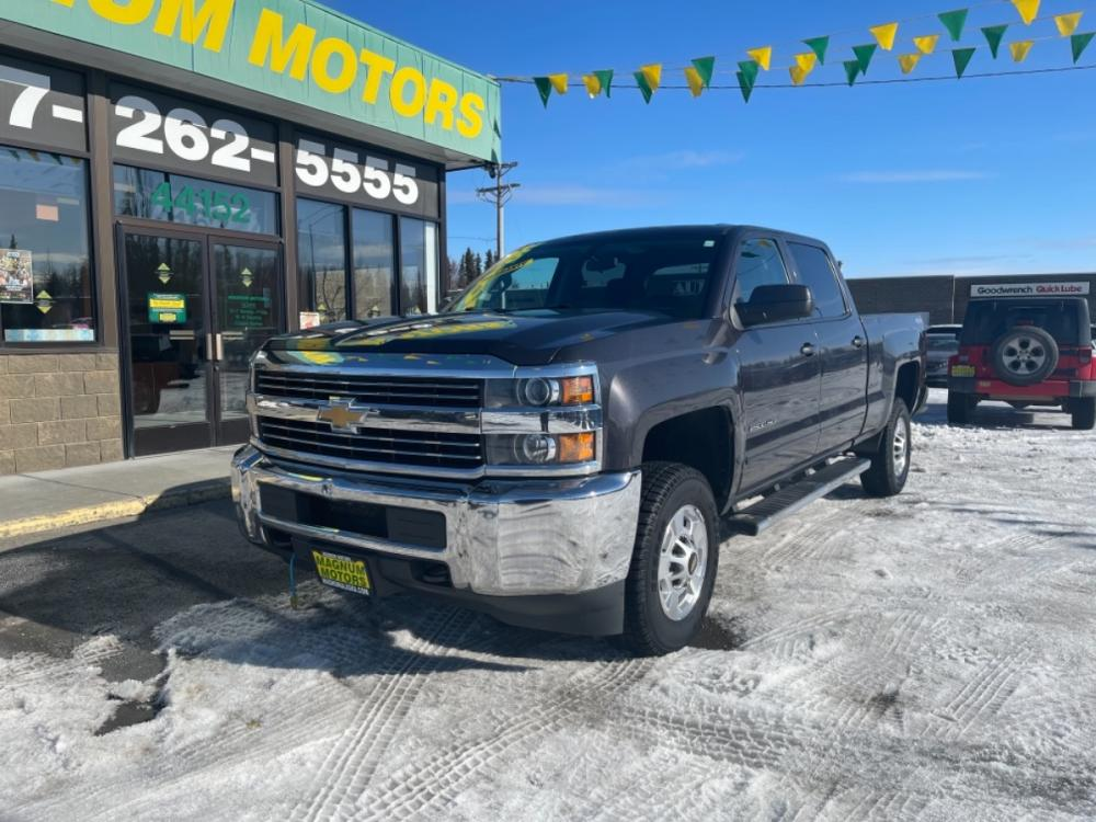 2015 Blue Chevrolet Silverado 2500HD LT Crew Cab Long Box 4WD (1GC1KVEG2FF) with an 6.0L V8 OHV 16V FFV engine, 6-Speed Automatic transmission, located at 44152 Sterling Highway, Soldotna, 99669, (907) 262-5555, 60.484917, -151.062408 - Photo #0