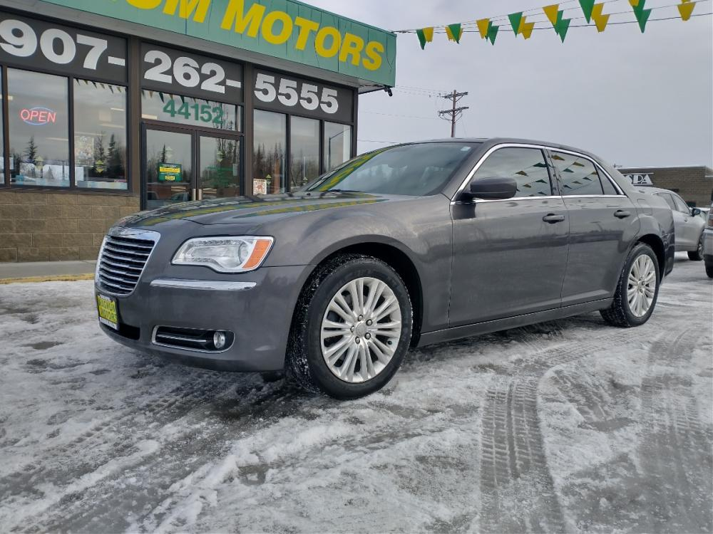 2013 Gray Chrysler 300 AWD (2C3CCARG3DH) with an 3.6L V6 SOHC 24V engine, 8-Speed Automatic transmission, located at 44152 Sterling Highway, Soldotna, 99669, (907) 262-5555, 60.484917, -151.062408 - Photo #0