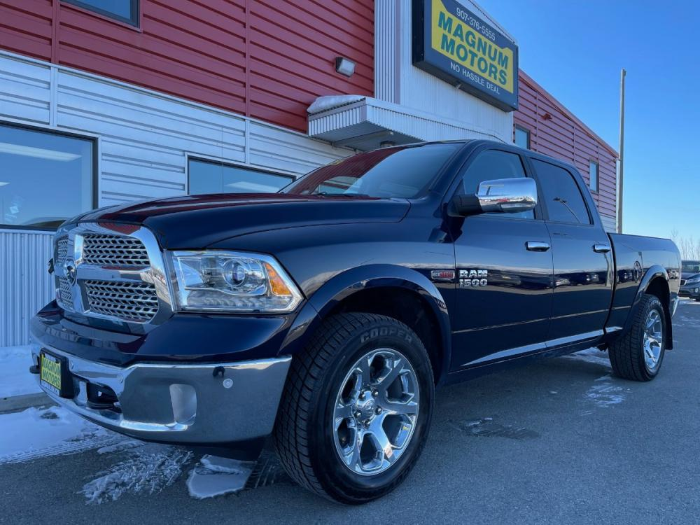 2017 Black /Black RAM 1500 Laramie Crew Cab 4WD (1C6RR7VM9HS) with an 3.0L V6 DIESEL engine, 8A transmission, located at 1960 Industrial Drive, Wasilla, AK, 99654, (907) 376-5555, 61.573475, -149.400146 - Photo #0