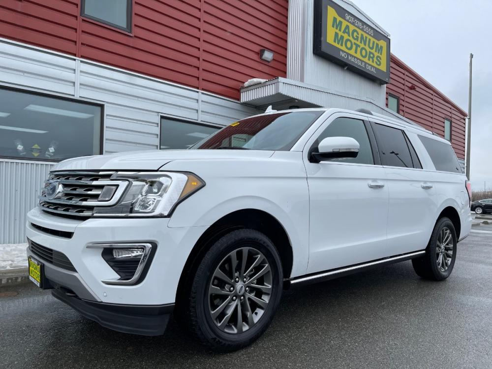2020 White /Black Ford Expedition MAX Limited 4WD (1FMJK2AT0LE) with an 3.5L V6 DOHC 24V FFV engine, 6A transmission, located at 1960 Industrial Drive, Wasilla, AK, 99654, (907) 376-5555, 61.573475, -149.400146 - Photo #0