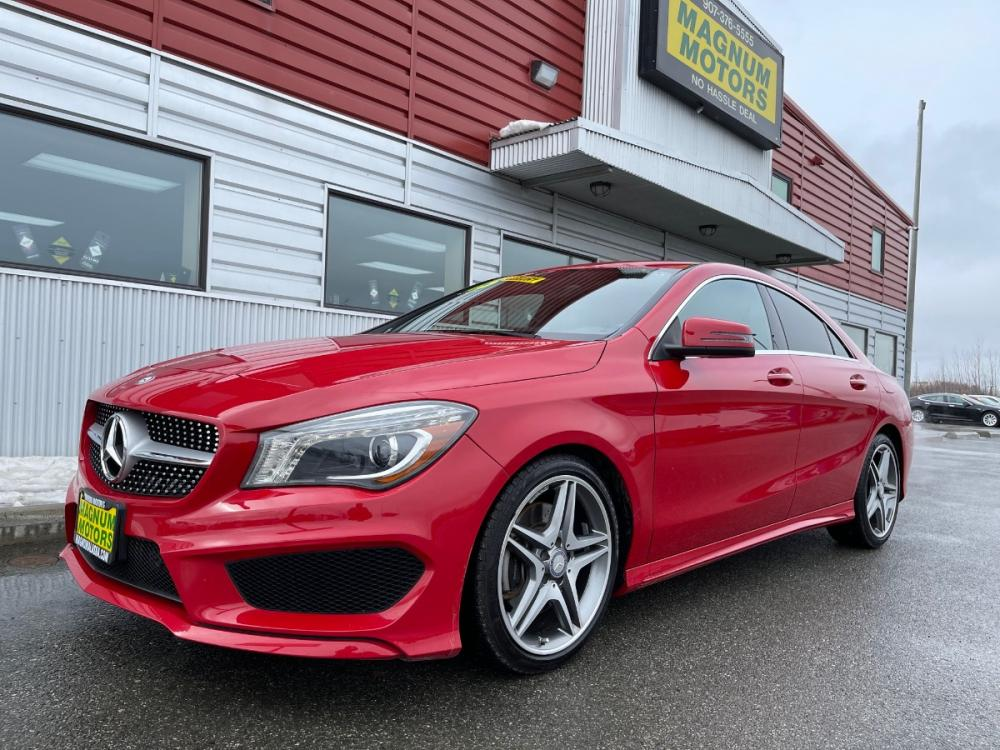2015 Red /Black Mercedes-Benz CLA-Class CLA250 4MATIC (WDDSJ4GB6FN) with an 2.0L L4 DOHC 16V engine, 7A transmission, located at 1960 Industrial Drive, Wasilla, AK, 99654, (907) 376-5555, 61.573475, -149.400146 - Photo #0