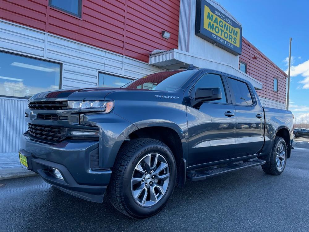 2019 Gray /Black Chevrolet Silverado 1500 RST Crew Cab 4WD (1GCUYEEDXKZ) with an 5.3L V8 OHV 16V engine, 6A transmission, located at 1960 Industrial Drive, Wasilla, AK, 99654, (907) 376-5555, 61.573475, -149.400146 - Photo #0
