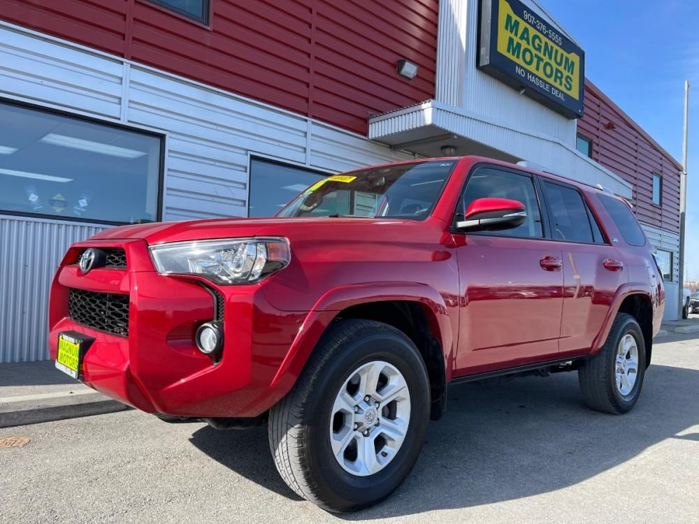 2016 Red /Gray Toyota 4Runner SR5 4WD (JTEBU5JR9G5) with an 4.0L V6 DOHC 24V engine, 5A transmission, located at 1960 Industrial Drive, Wasilla, AK, 99654, (907) 376-5555, 61.573475, -149.400146 - Photo #0