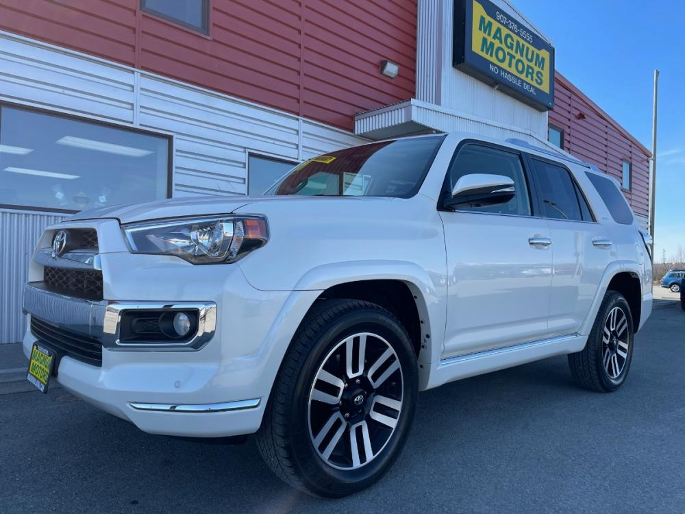 2019 White /Black Toyota 4Runner Limited 4WD (JTEBU5JR9K5) with an 4.0L V6 DOHC 24V engine, 5A transmission, located at 1960 Industrial Drive, Wasilla, AK, 99654, (907) 376-5555, 61.573475, -149.400146 - Photo #0
