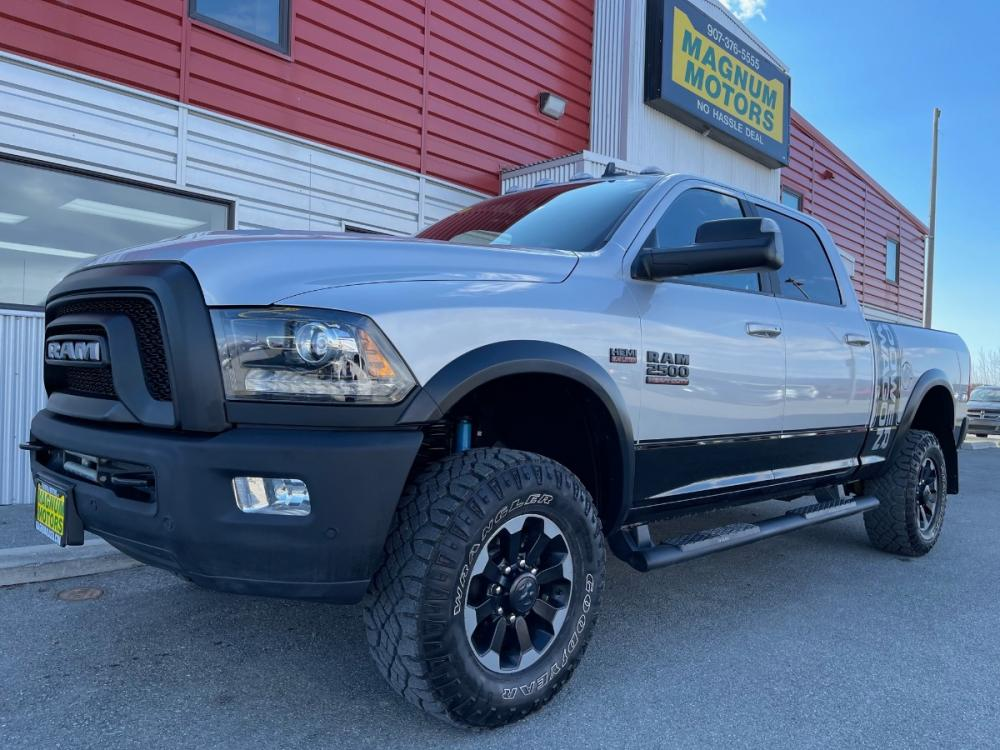 2018 Silver /Black RAM 2500 Power Wagon Crew Cab SWB 4WD (3C6TR5EJ4JG) with an 6.4L V8 engine, 6A transmission, located at 1960 Industrial Drive, Wasilla, AK, 99654, (907) 376-5555, 61.573475, -149.400146 - Photo #0