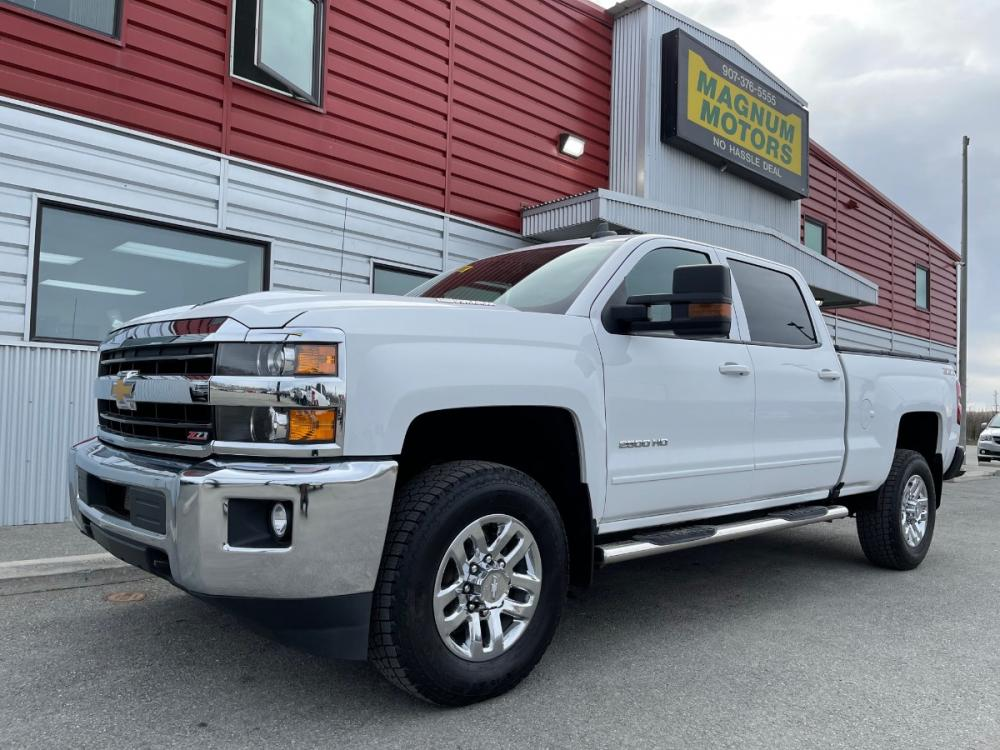 2019 White /Gray Chevrolet Silverado 2500HD LT 4WD (1GC1KSEY4KF) with an 6.6L V8 OHV 16V DIESEL engine, 6A transmission, located at 1960 Industrial Drive, Wasilla, AK, 99654, (907) 376-5555, 61.573475, -149.400146 - Photo #0
